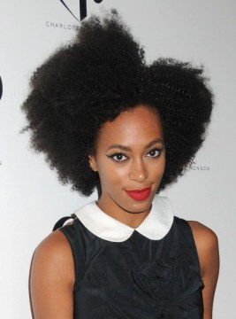 Solange Knowles sporting the her natural hair in all its beauty.
