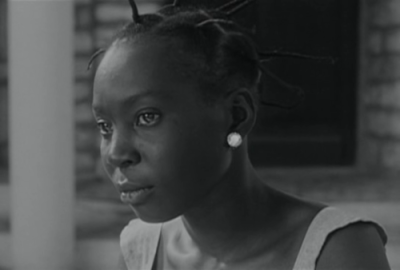The lovely French actress Mbissine  Thérèse Diop in  Black Girl (1966).